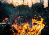 Holz Explosion Feuer